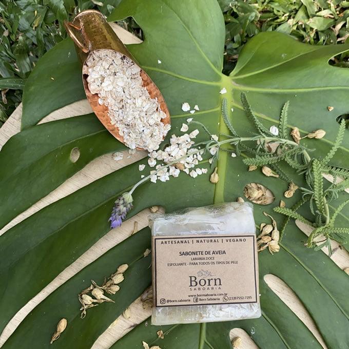 Sabonete Natural e Vegano - Aveia - Born Saboaria