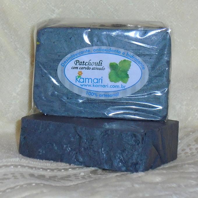 PATCHUOLI - Sabonete fitoterápico em Barra com carvão ativado