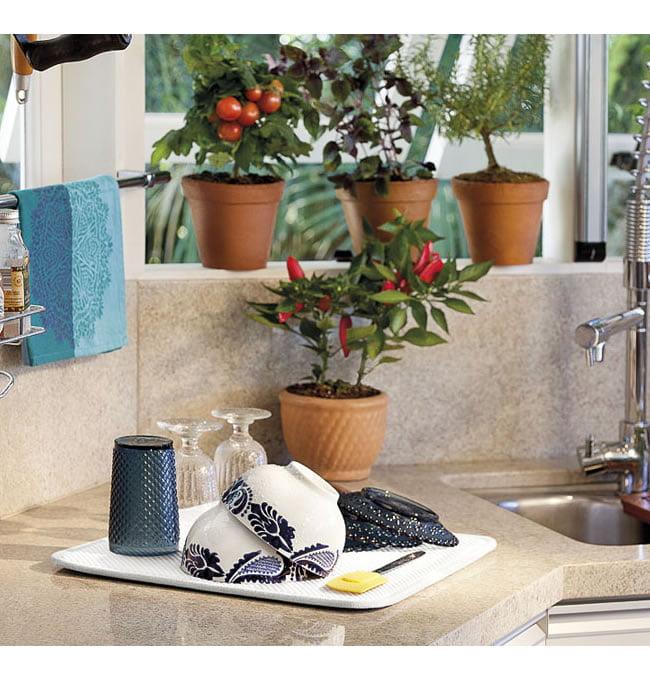 Tapete para escorrer Louças - 40X45 cm - Dish Drying Mat