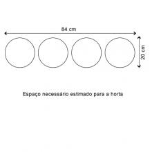 Kit Horta Autoirrigável Raiz - 4 vasos Grandes e 10 Etiquetas