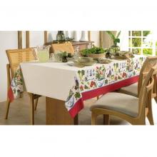 Toalha de Mesa - Retangular 8 Lugares - 140X250 - Limpa Fácil - Karsten - Salada