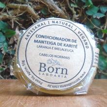 Condicionador em barra Natural e Vegano - Karité - Cabelos Normais - Born Saboaria