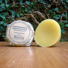 Condicionador em barra Natural e Vegano - Manteiga de Karité - Hidratante - Todos os Tipos de Cabelos - Born Saboaria