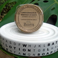 Condicionador em barra Natural e Vegano - Todos os Tipos de Cabelos - Born Saboaria