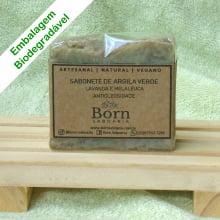 Sabonete Natural e Vegano - Argila Verde - Antioleosidade - Born Saboaria
