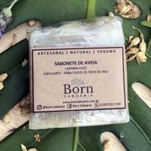 Sabonete Natural e Vegano - Aveia - Esfoliante - Born Saboaria