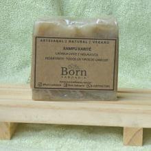 Xampu em Barra Natural e Vegano - Manteiga de Karité - Hidratante - Todos os Tipos de Cabelos - Born Saboaria