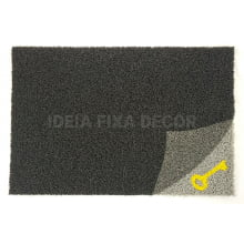 Capacho com Arte - Retangular - Fibra de PVC - Chave Escondida - 40X60 cm