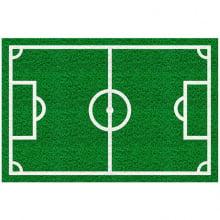 Capacho Retangular - Fibra de PVC - Campo de Futebol - 40X60 cm