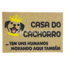 Capacho Retangular - Fibra de PVC - Casa do Cachorro - 40X60 cm