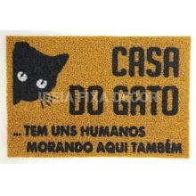 Capacho Retangular - Fibra de PVC - Casa do Gato - 40X60 cm