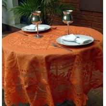 Toalha de Mesa - Redonda 4 Lugares - 160 Diam - Fibra de Coco
