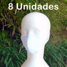 Máscara Protetora de Tecido Lavável - Cores Lisas - 8 Unidades
